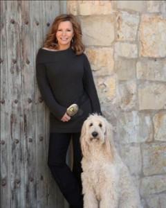 Cheryl Ladd & Dog
